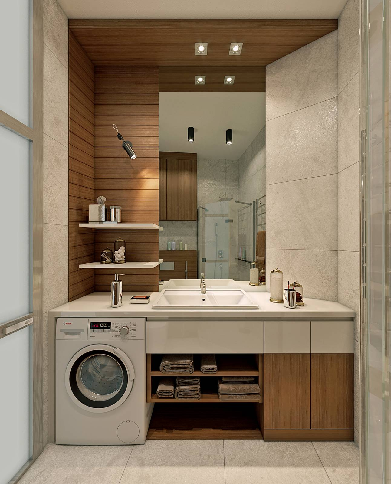"""Мебель в ванную комнату ЖК """"Кардинал"""""""